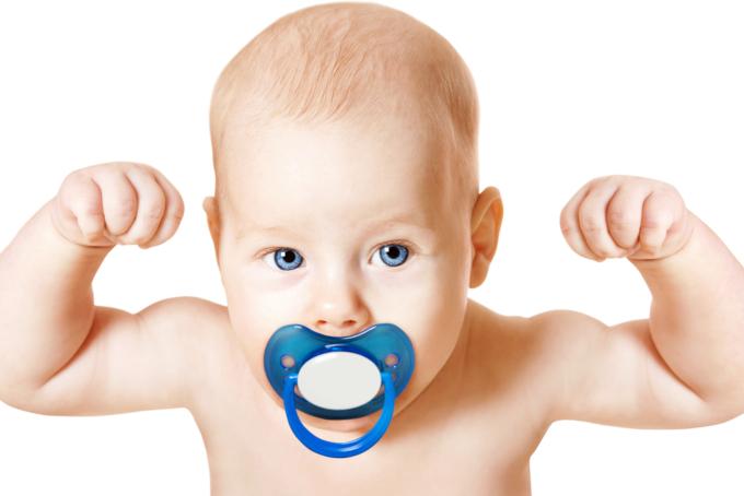 赤ちゃんの筋肉量
