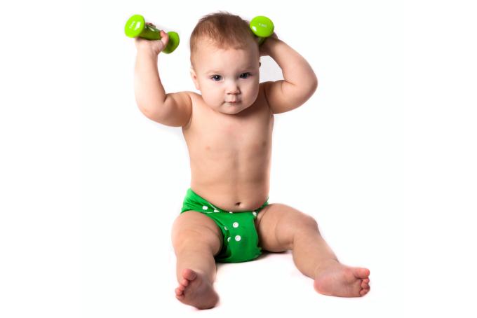 筋肉ムキムキの赤ちゃんは意外と多い