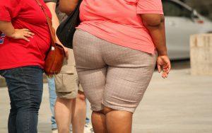 太っている女性の後ろ姿